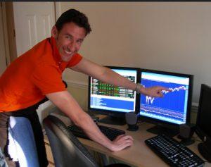 stock trader at home